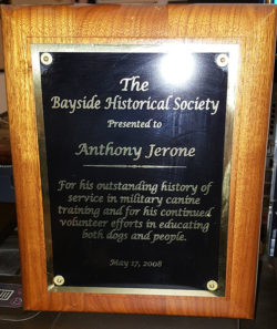 Anthony Jerone Plaque